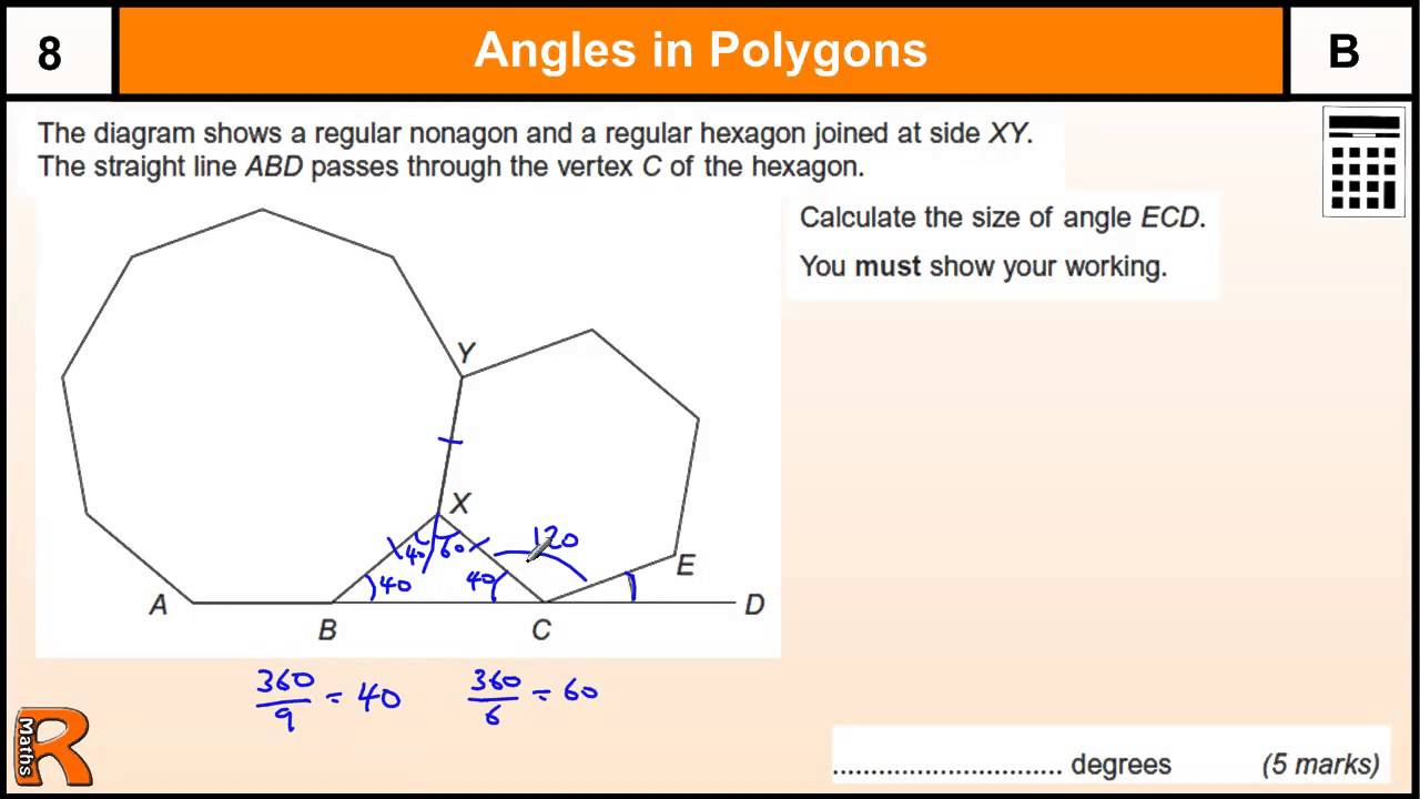 - How to work out an exterior angle ...