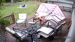 ** ORIGINAL **     Kid breaks glass table - Epic Fail - 2016