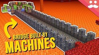 Self Building Bridges in Minecraft 1.16
