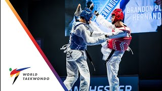 Manchester 2019 WTC [MEN –58Kg] JUN JANG (KOR) vs BRANDON PLAZA HERNANDEZ (MEX)