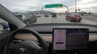 Waltz of Merging Traffic - Tesla Nav on Autopilot