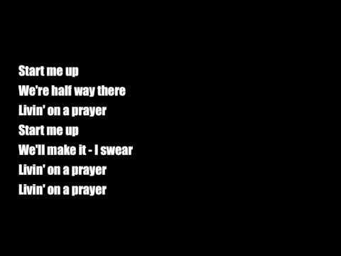 Start Me Up/ Livin' On A Prayer by Glee Cast ♥  with lyrics.