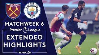 West Ham v. Manchester City   PREMIER LEAGUE HIGHLIGHTS   10/24/2020   NBC Sports