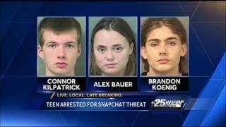 Teen arrested for Snapchat threat