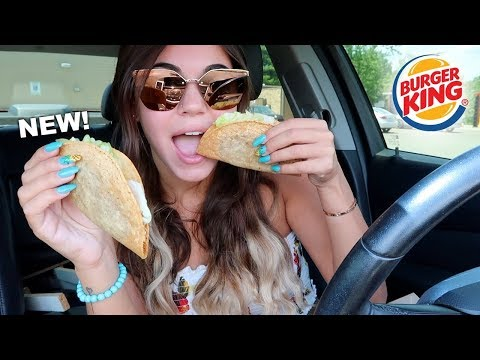 TRYING BURGER KINGS NEW TACOS!!!