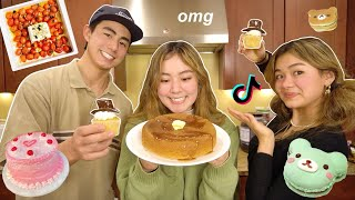 MAKING VIRAL TIKTOK FOODS w/ MY SIBLINGS! 🥞 (Part 3)