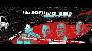Stephen Grootes hosts the panel Post #GuptaLeaks World | The Gathering 2018