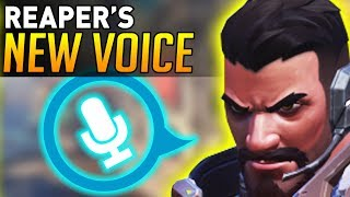 Overwatch   Reaper's NEW VOICE ACTING! (Replaced ALL Voice Lines!)