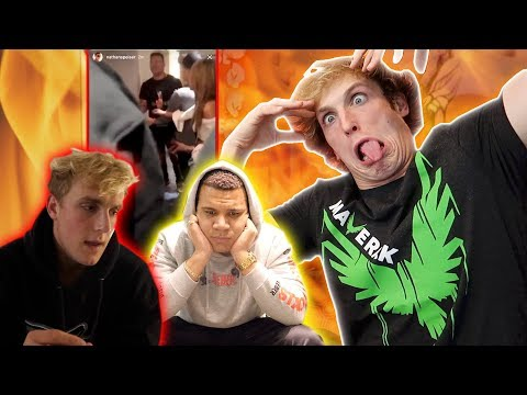 REACTING TO JAKE PAUL'S FIGHT WITH WOLFIE!