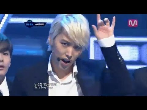 슈퍼주니어_Sexy Free & Single (Sexy Free & Single by Super Junior@Mcountdown 2012.07.26)