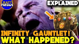 What happens to Infinity Gauntlet after Thanos [SPOILERS] ? Comic Explained! Avengers Infinity War