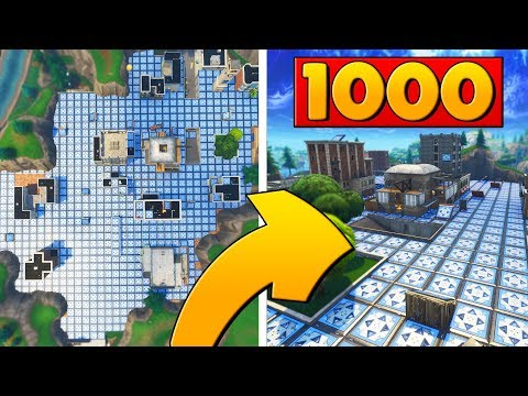 COVERING TILTED TOWERS IN 1000 BOUNCE PADS In Fortnite Battle Royale