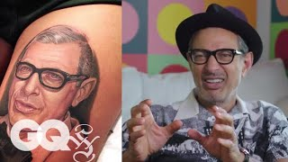Jeff Goldblum Critiques Jeff Goldblum Tattoos | Tattoo Tour | GQ