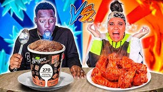 HOT VS COLD CHALLENGE 🔥