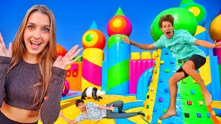 24 HOURS IN A BOUNCE HOUSE!!