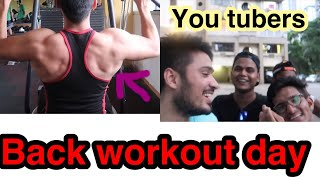 BACK WORKOUT DAY VLOG ft Shaikh brothers| NB vlogs .