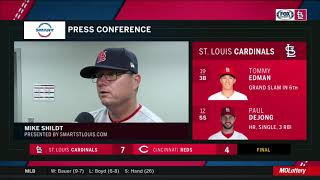 Shildt on Edman: 'He's not trying to do too much'