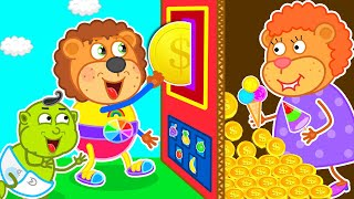 Play Colorful Vending Machine Toy | Lion Family | Cartoon for Kids