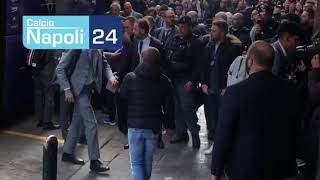 Champions League, Napoli-Barcellona: l'arrivo di Messi e compagni in albergo
