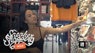 Karrueche Tran Goes Sneaker Shopping with Complex