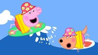 Peppa Pig Français 🌊 Peppa Apprend À Surfer 🌊 Dessin Animé