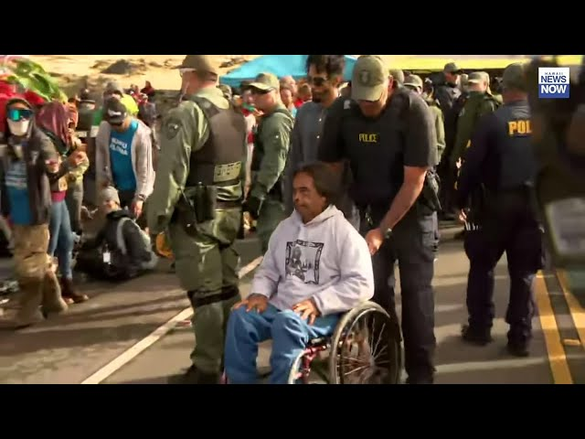 Protesters arrested in Hawaii telescope standoff