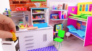 5 DIY Miniature Dollhouse Rooms ~ Kitchen, Bunk Bed, Grocery Store, etc.