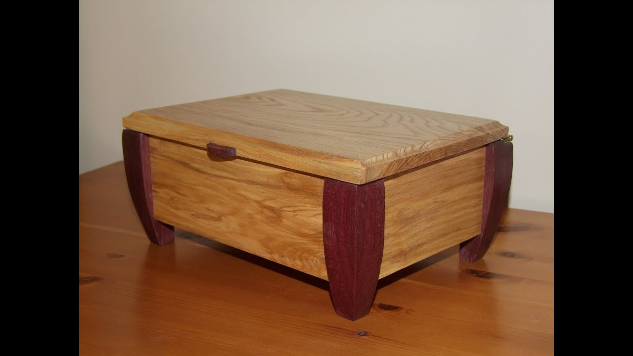 Making A Wooden Jewellery Box Youtube