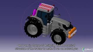 Conversion d'un tracteur agricole au bioGNV : RES4Live expliqué par le CRMT