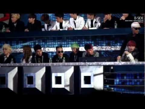 [FANCAM] 121229 SBS 가요대전 가수석 빅뱅(BIGBANG)