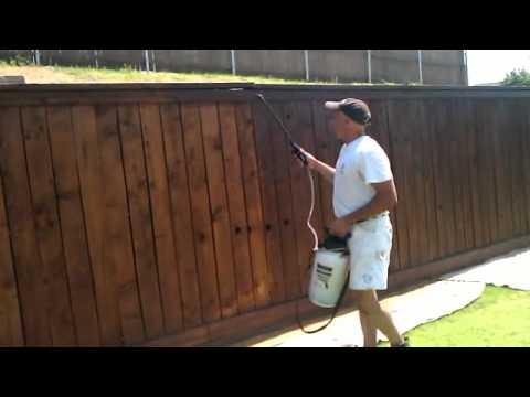 Steps On How To Stain A Fence Mp4 Youtube