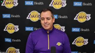 Frank Vogel Postgame; Lakers beat the Nuggets