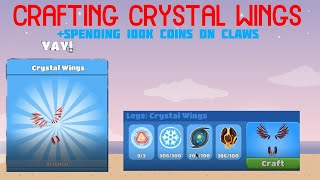 CRAFTING CRYSTAL WINGS +BUYING 100k CLAWS