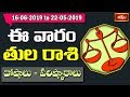 Libra Weekly Horoscope By Dr Sankaramanchi Ramakrishna Sastry | 16 June 2019 - 22 June 2019