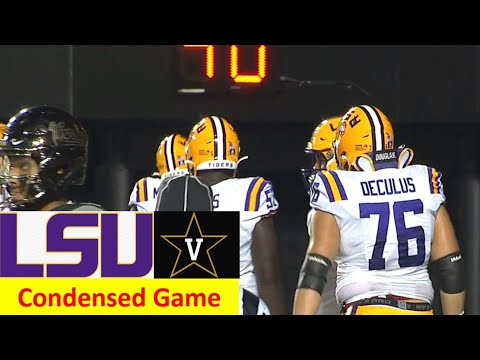 LSU vs Vanderbilt Condensed Football Game 10 3 2020