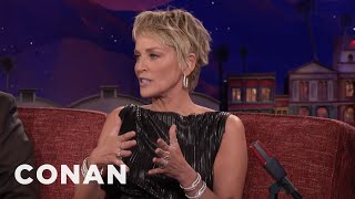 Sharon Stone Was Tonya Harding's Red Carpet Coach  - CONAN on TBS