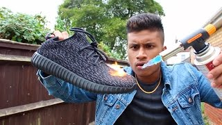 YEEZYS VS GAS TORCH!!! (YEEZY BOOST)