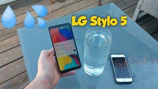 LG Stylo 5 water test... water resistant?