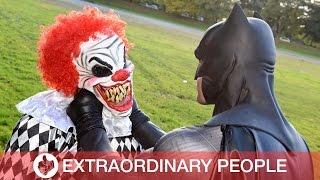Real-Life Batman Takes On Killer Clowns