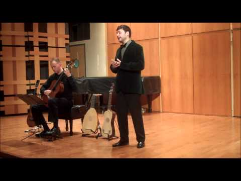 "Countertenor Bryan DeSilva performs Lorca's ""Nana de Sevilla"" with guitarist Duane Large."