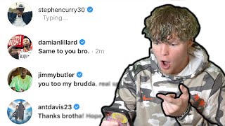 DMing NBA PLAYERS! *THEY RESPONDED*