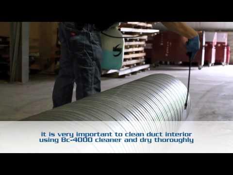 Spiral Wound Bio Shield HVAC Shop Applied Coatings