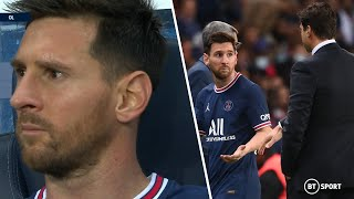 Messi frustrated by PSG substitution! Mauricio Pochettino takes off Lionel Messi on PSG home debut!