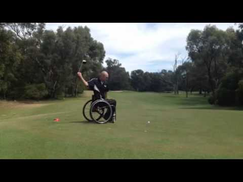 One Handed Golf from a Wheelchair