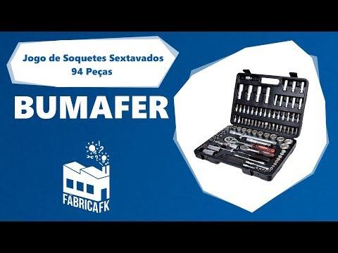 Jogo de Soquetes Sextavados 94 Peças Bumafer - Vídeo explicativo