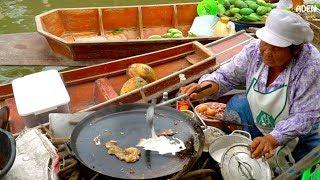 Thai Street Food at Floating Market near Bangkok
