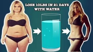 How to lose weight fast by drinking water - 100% effective