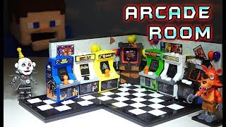 FNAF Arcade Room Classics MCFARLANE Toys DIY Mini Buildable Set! Five Nights at Freddy's 2 Wave 5
