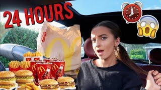 I ATE ONLY MCDONALDS FOOD FOR 24 HOURS | DRIVE (THRU) WITH ME!