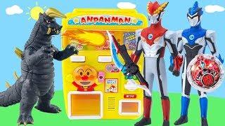 罗布奥特曼贩卖机买食玩扭蛋打怪兽